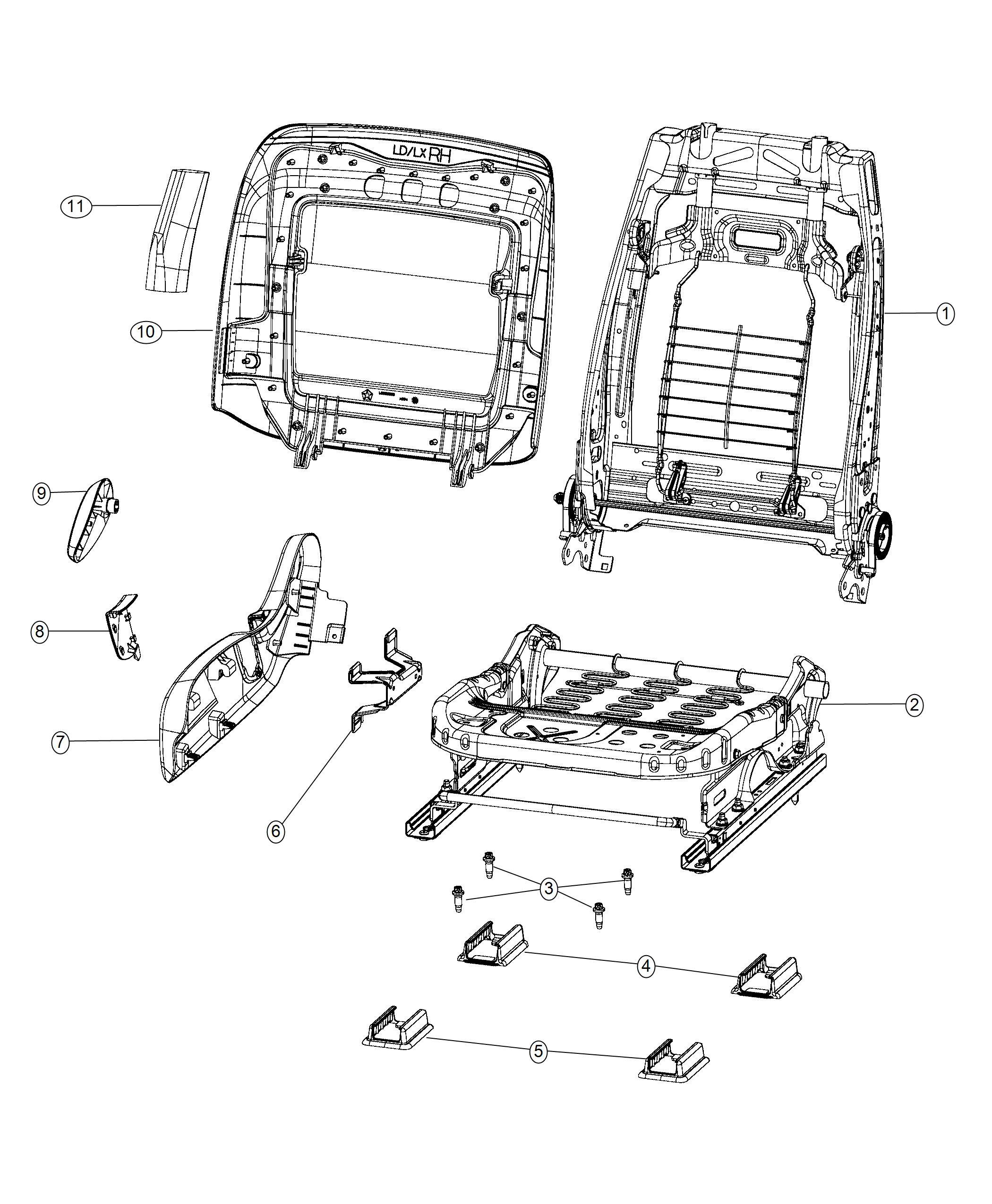 Dodge Charger Shield Seat Trim Hd Cloth Bucket Seats W
