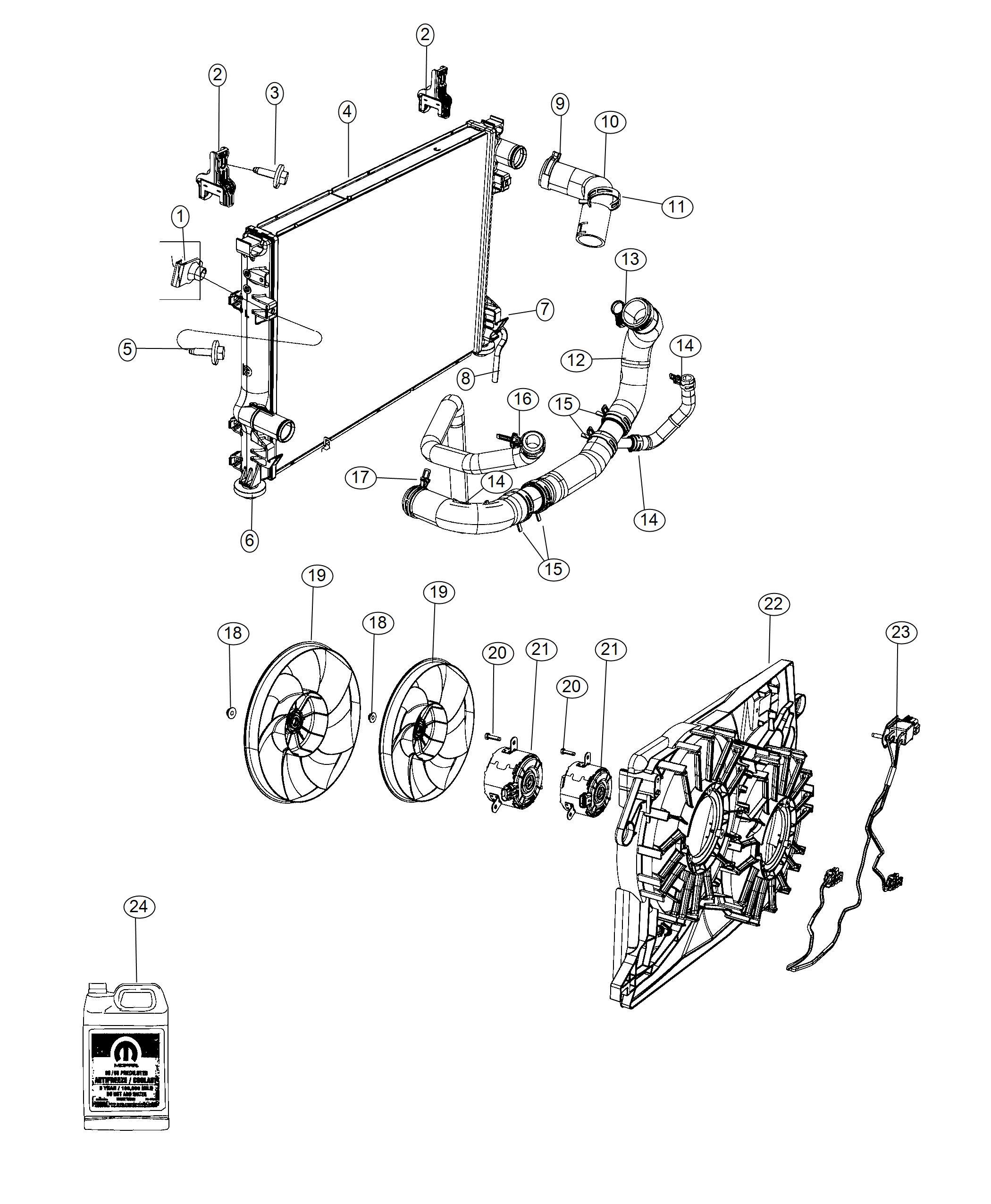 Chrysler 300 Isolator Radiator Lower Greyl