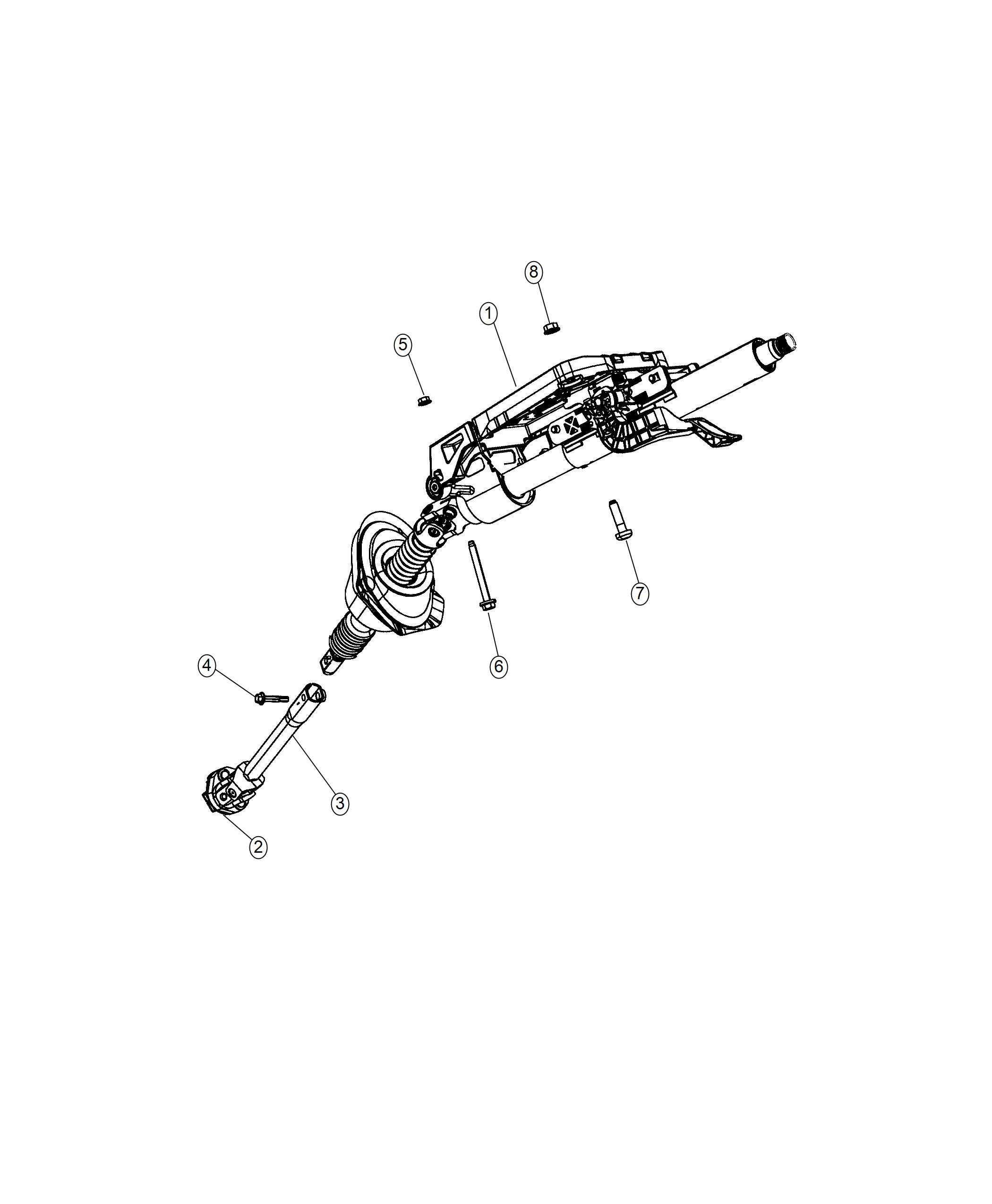 Dodge Charger Column Steering Instrument Panel Parts
