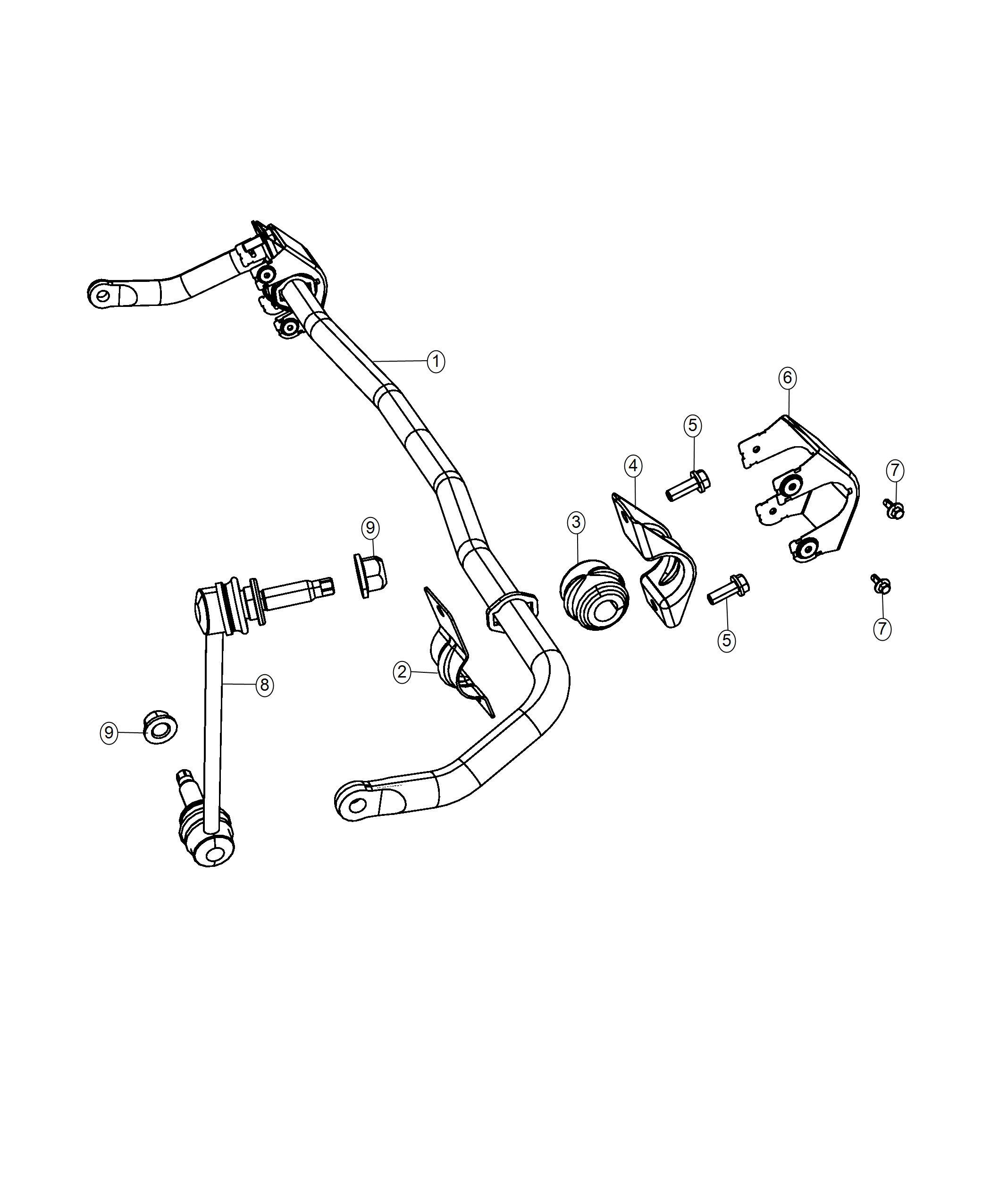Chrysler 300 Bushing Stabilizer Bar Suspension Front