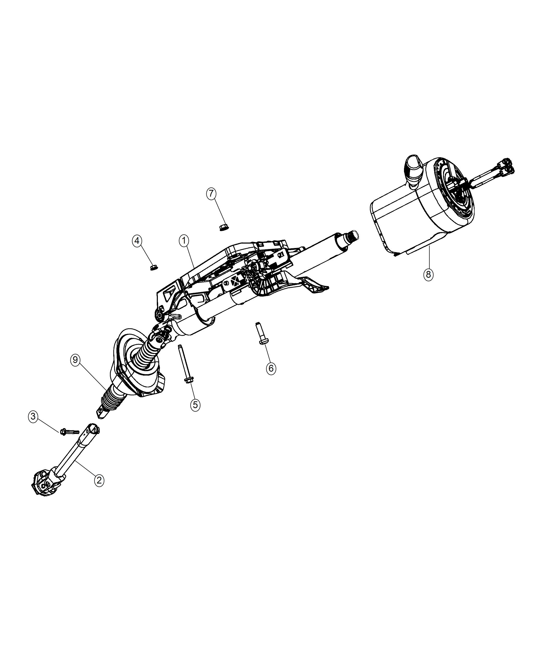 Chrysler 300 Shaft Steering Column Intermediate Export