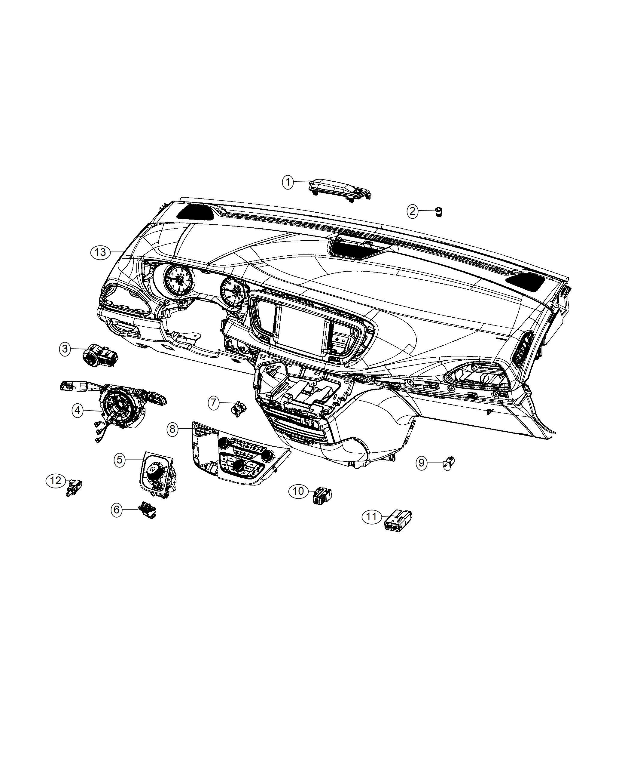 Chrysler Pacifica L Hybrid Media Center Reflector Hub Sd Usb Charging Auxiliary