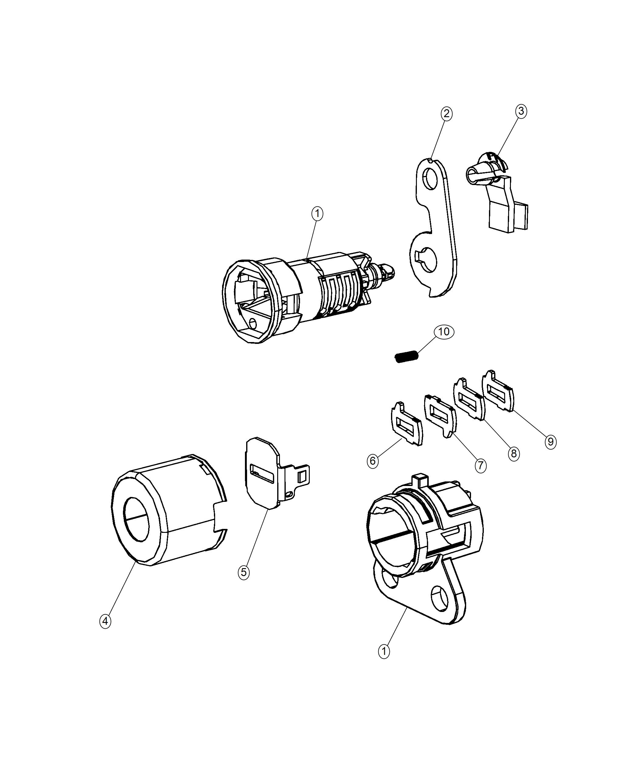 Chrysler Pacifica Cylinder Door Lock Fobs Additional