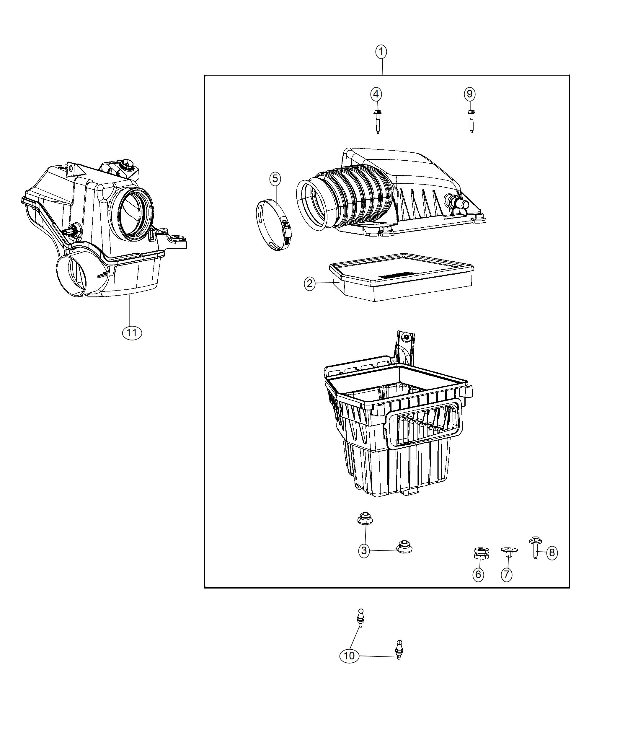 Chrysler Pacifica L Hybrid Air Cleaner Phev Adaptation Components