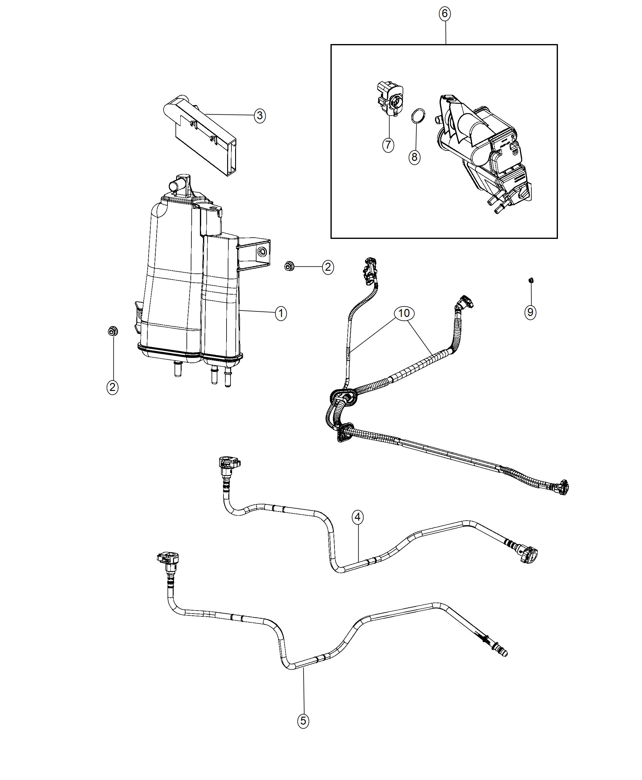 Jeep Renegade Tube Fuel Vapor