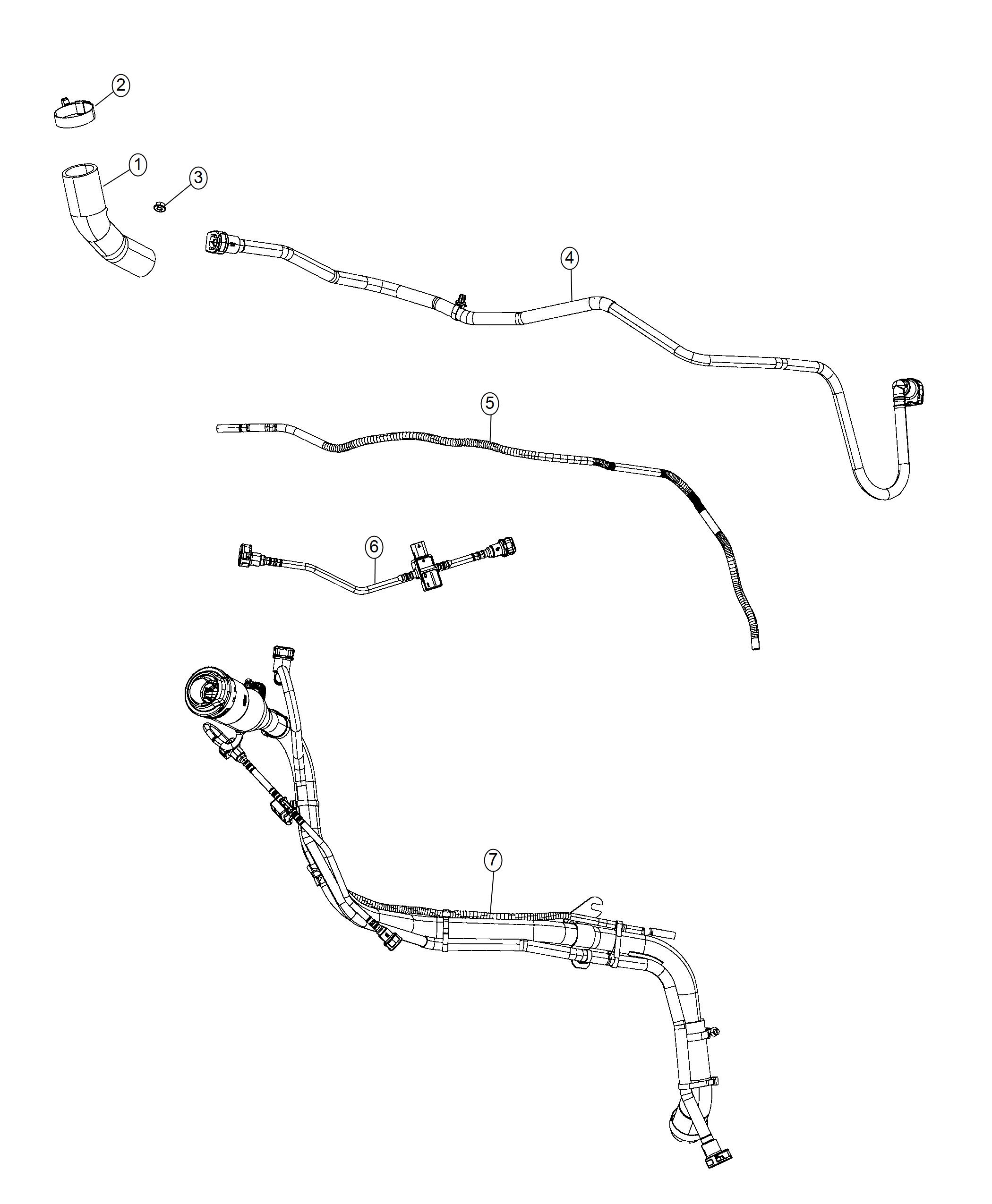 Chrysler Pacifica Hose Fuel Filler Phev Adaptation