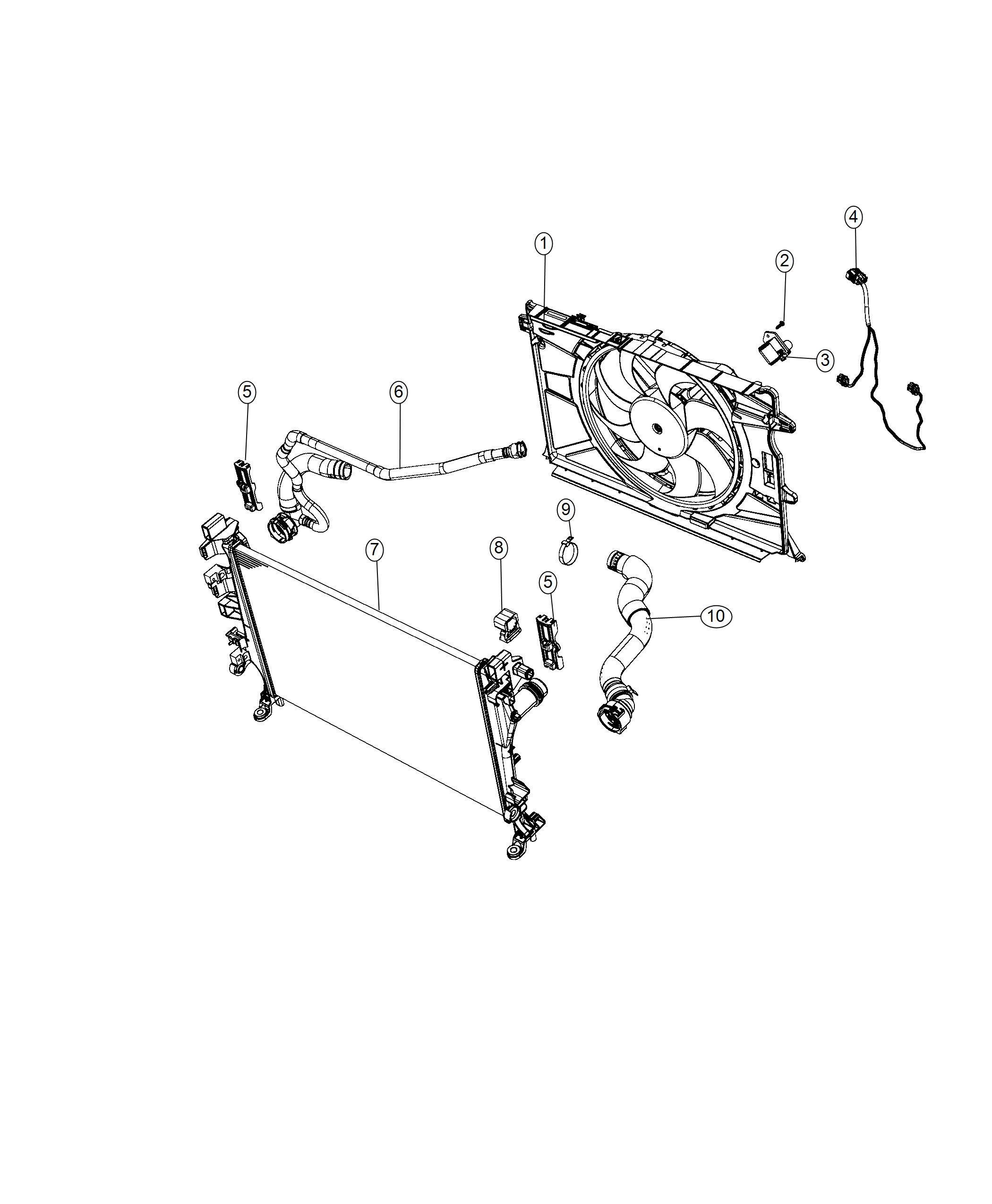 Jeep Renegade Hose Radiator Inlet Export Cooling