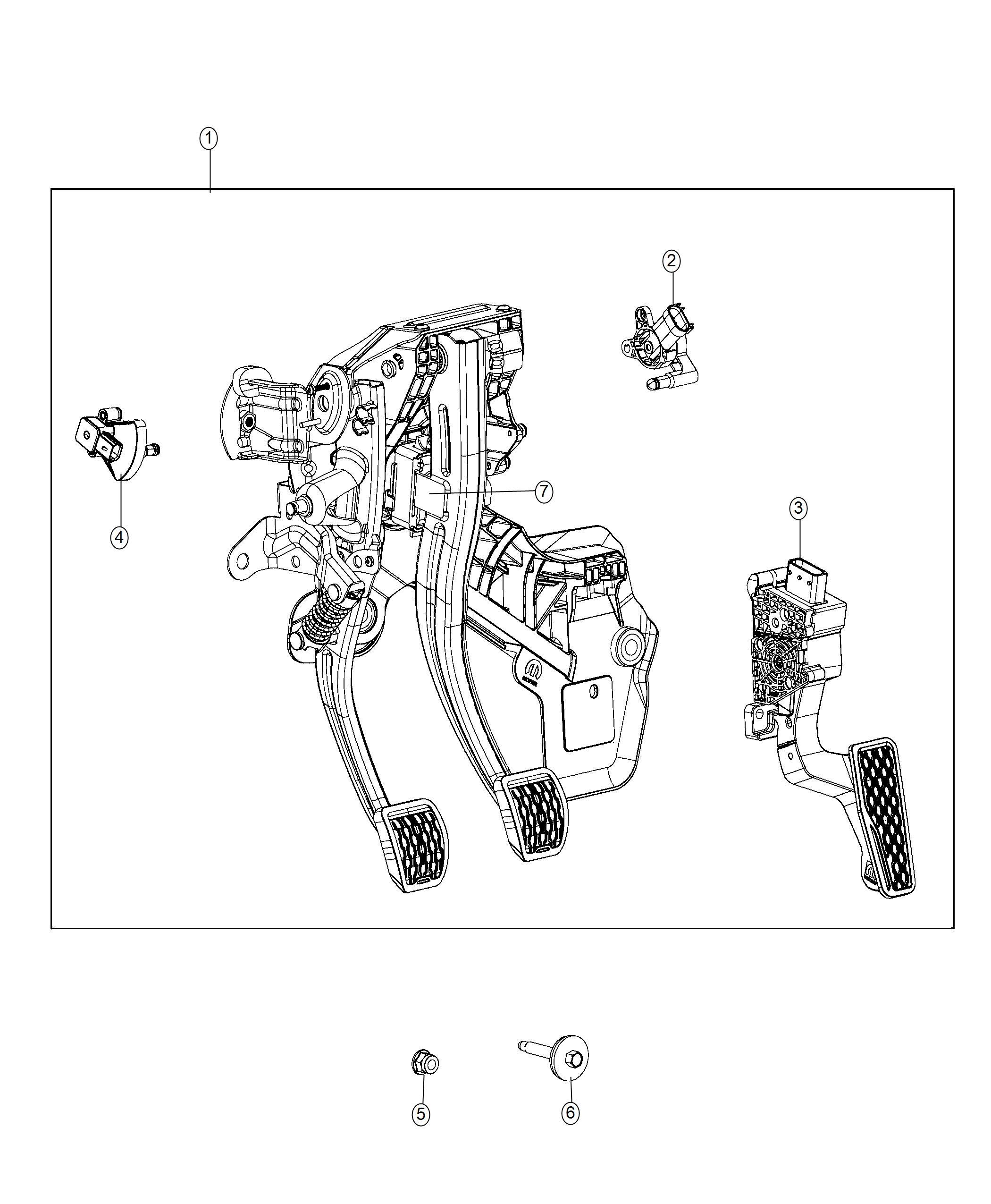 Jeep Wrangler Sensor Brake Pedal Left Hand Drive Right