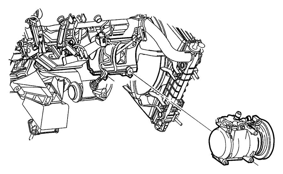Dodge Viper Bracket A C Compressor Egg Mounting