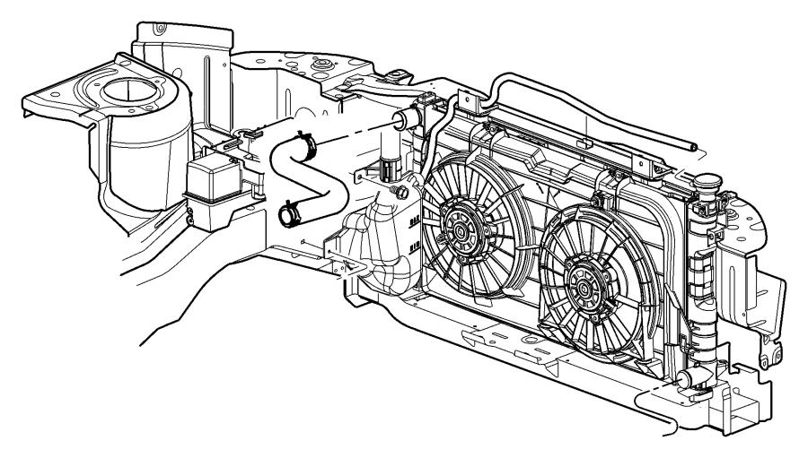 Dodge Caravan Module Radiator Cooling Up To 01 31