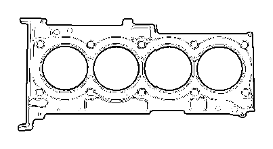 Jeep Compass Gasket Kit Engine Lower Cooler Oil