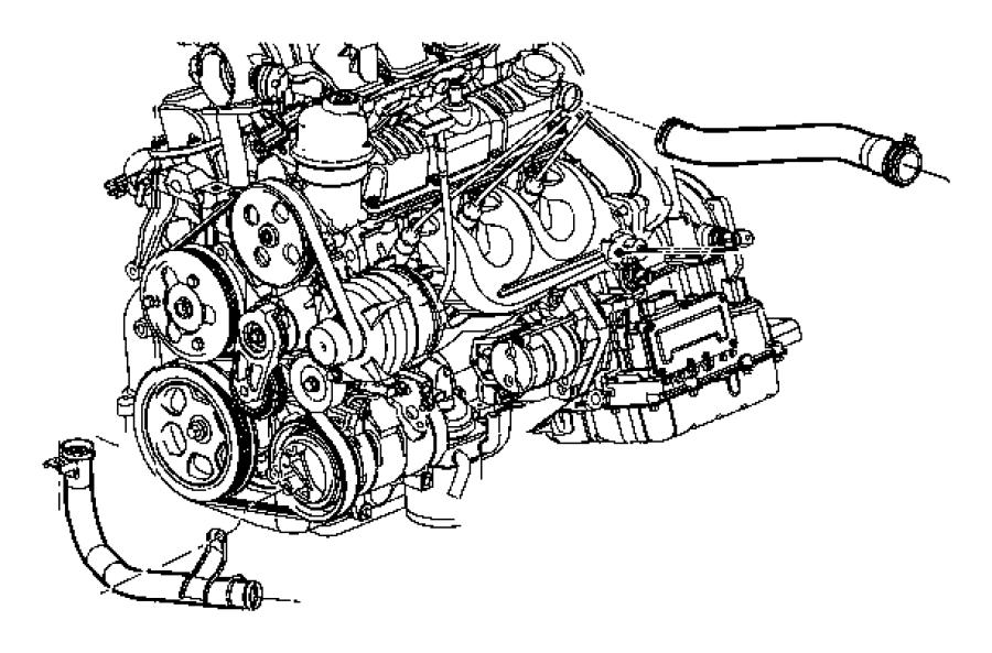 Jeep Wrangler Thrmostat Plastic Connector Engine