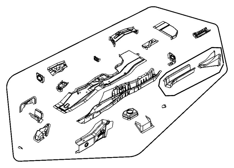 Dodge Caliber Reinforcement Rear Floor Sidemember