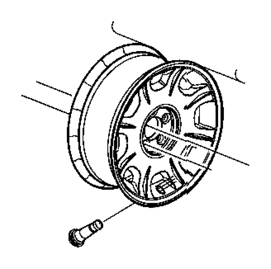Chrysler 300 Wheel Aluminum Color No Description