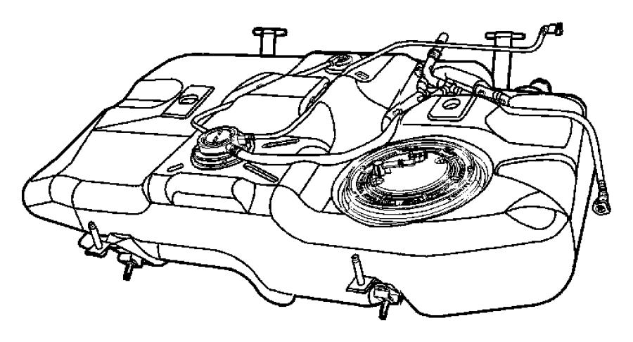 Dodge Caliber Strap Fuel Tank Right