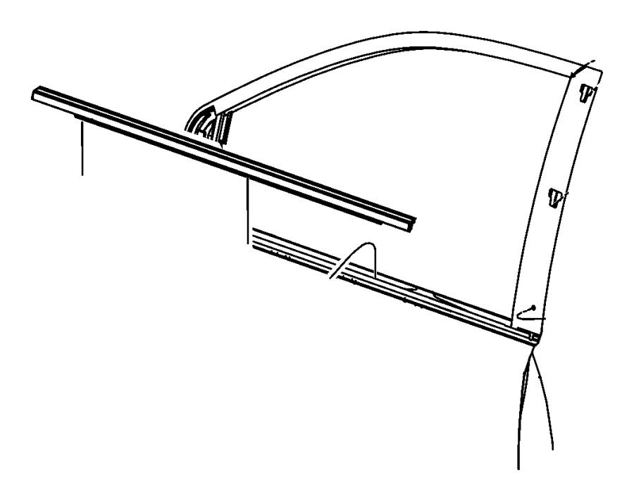 Dodge Grand Caravan Weatherstrip Front Door Belt Left