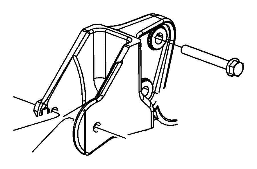 Jeep Patriot Bracket Transmission Mount Rear