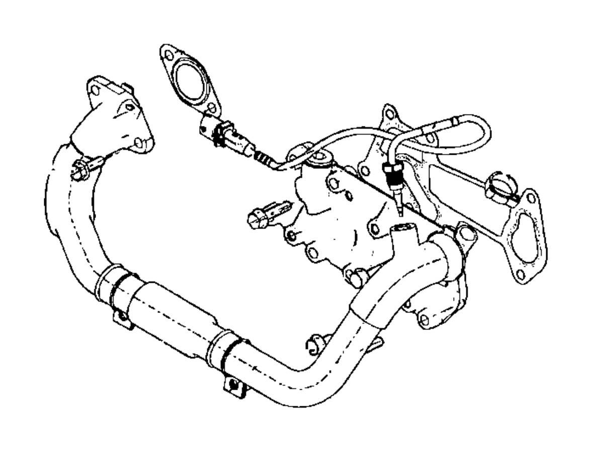 Ram Gasket Egr Cooler Heater Block Engine