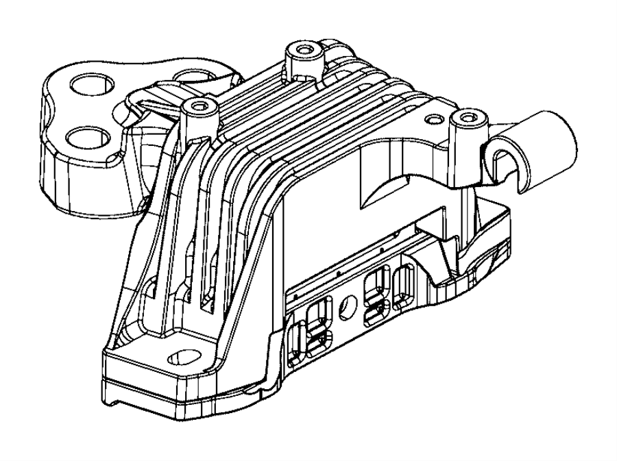 Jeep Cherokee Isolator Transmission Mount Engine