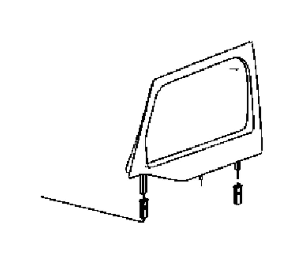 Jeep Wrangler Window Half Door Right Black Sunrider