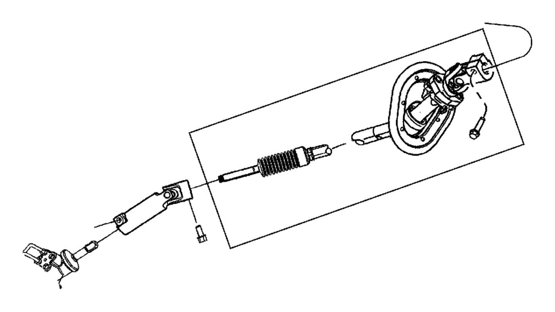 Ram Shaft Steering Column Intermediate Lower
