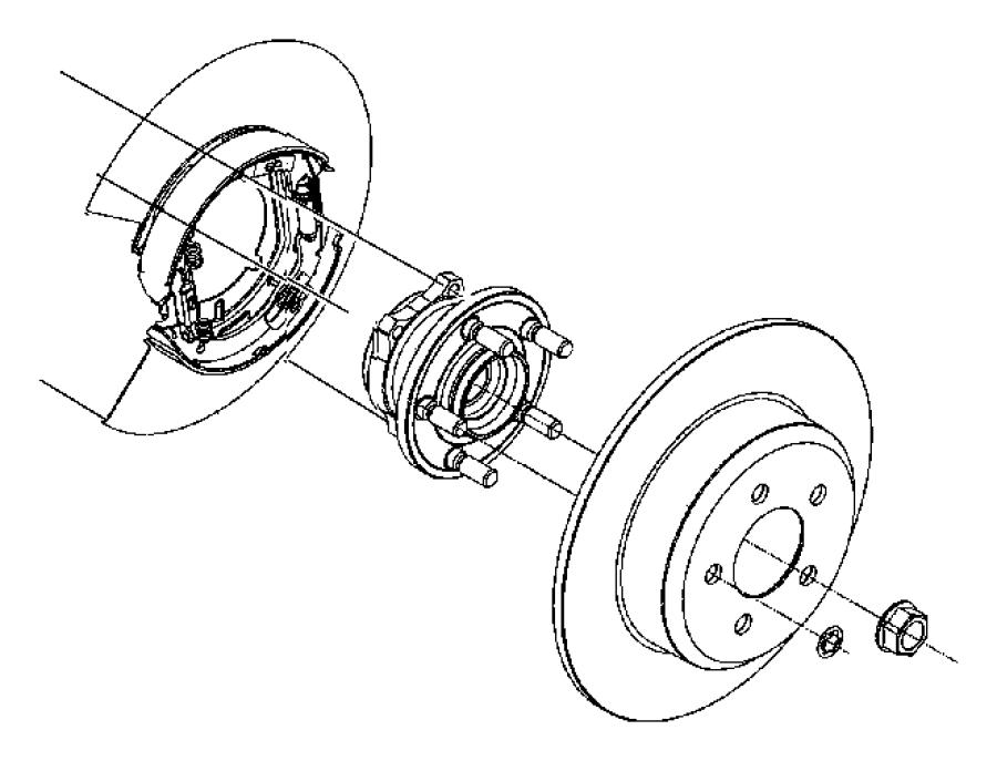 Dodge Magnum Rotor Brake Rear Brakes Disc Wheel