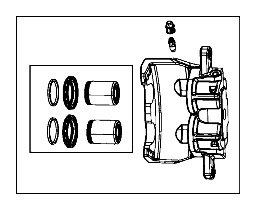 Dodge Charger Caliper Assembly Disc Brake Front Left