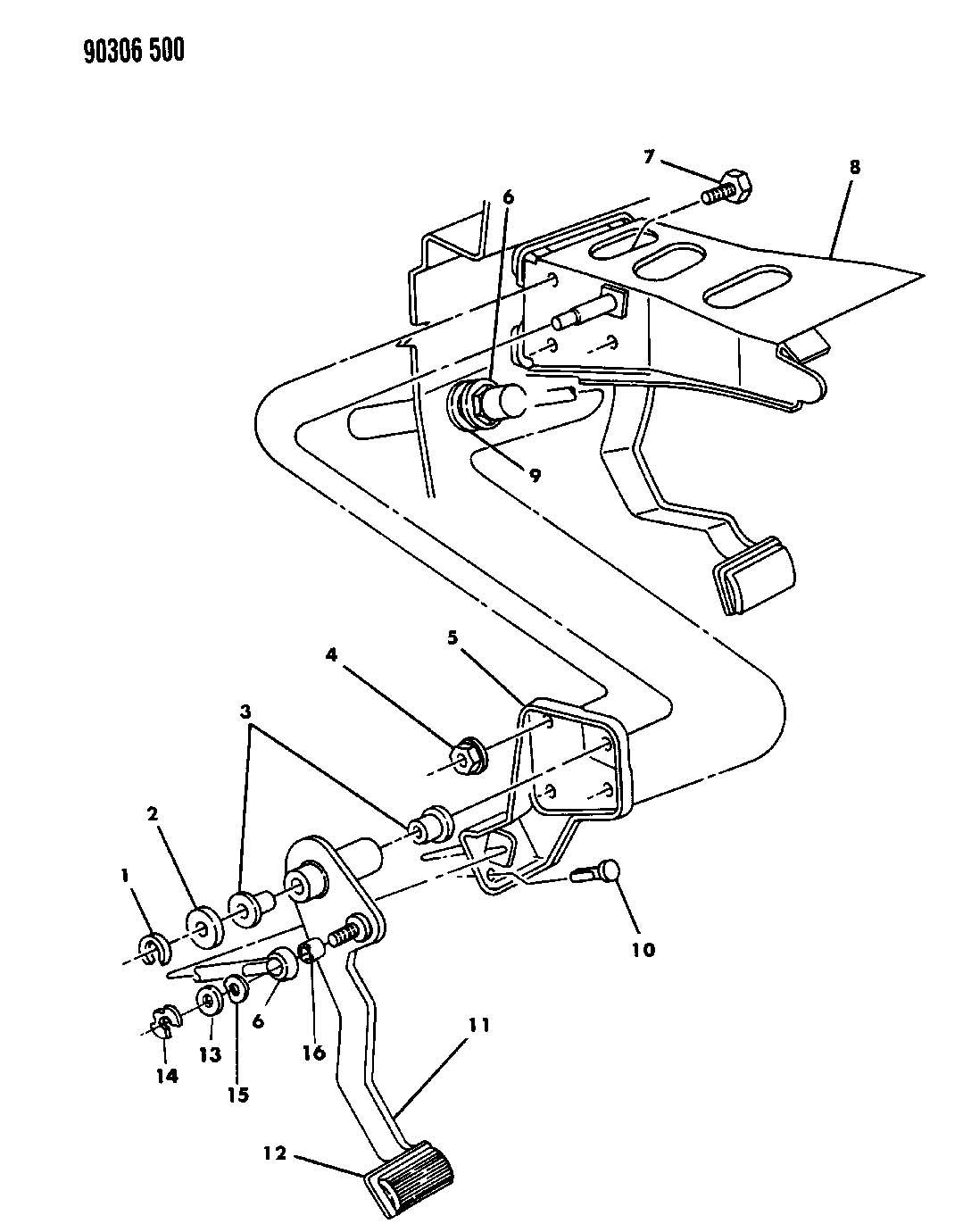 Dodge Dakota Pedal Clutch N Body With 2 5l 3 9l Engine