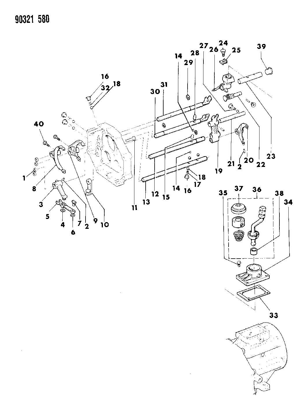 Jeep Wrangler Shaft Gear Shift Fork Number 5