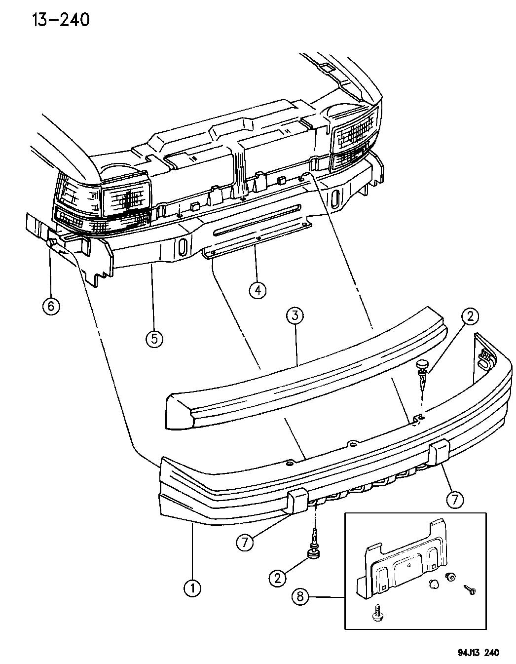 Jeep Grand Cherokee Front Bumper Diagram