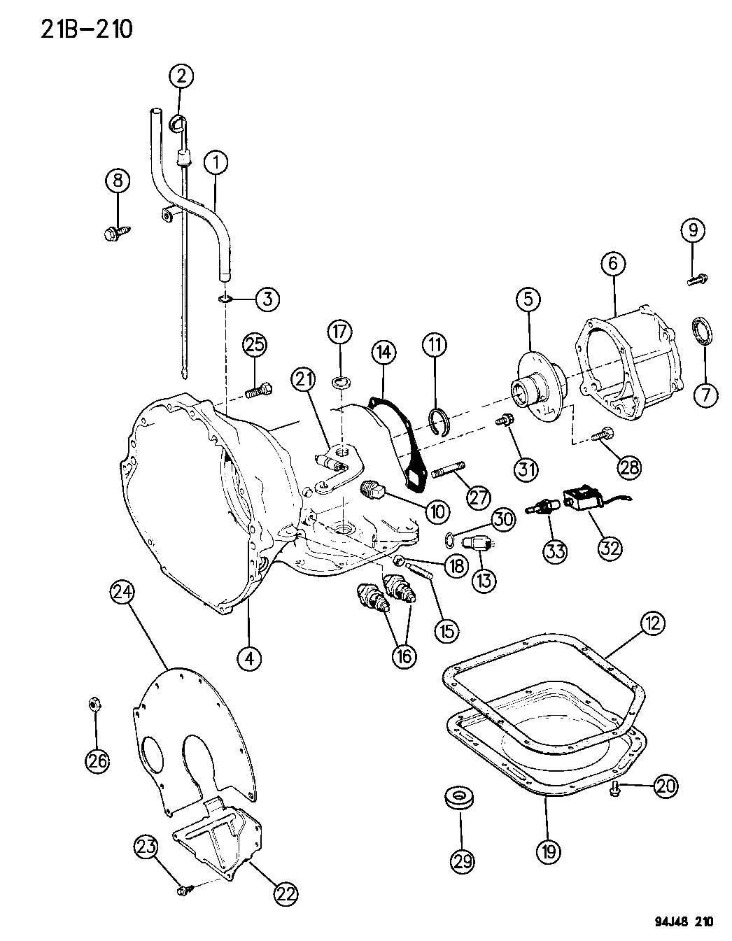 Case And Related Parts Automatic Transmission 3 Speed