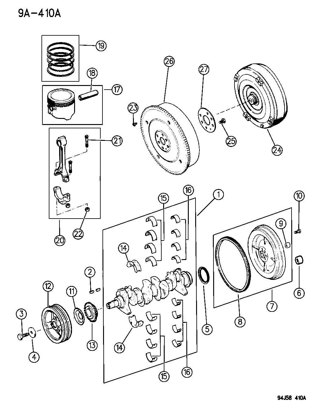 Service Manual Removing Torque Convertor Jeep