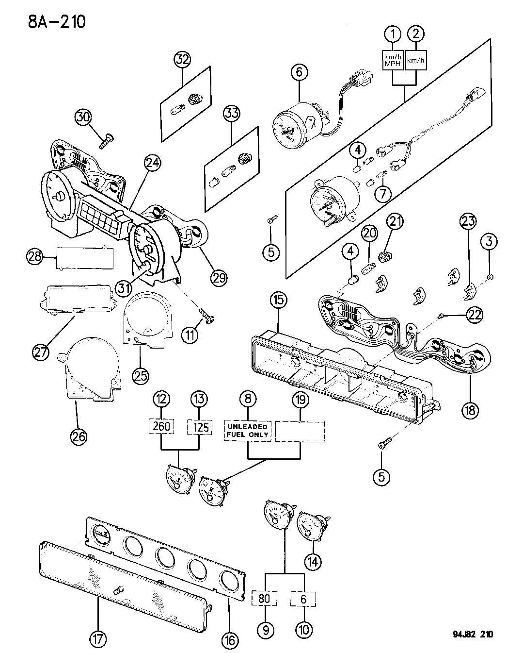 Jeep Wrangler Board Circuit 93 Clusters