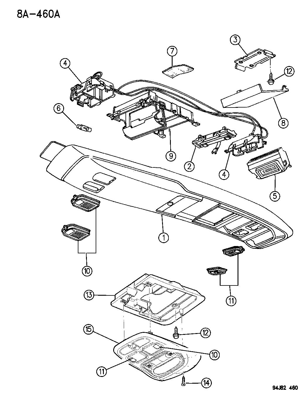 Jeep Grand Cherokee Wiring Overhead Console Full Type