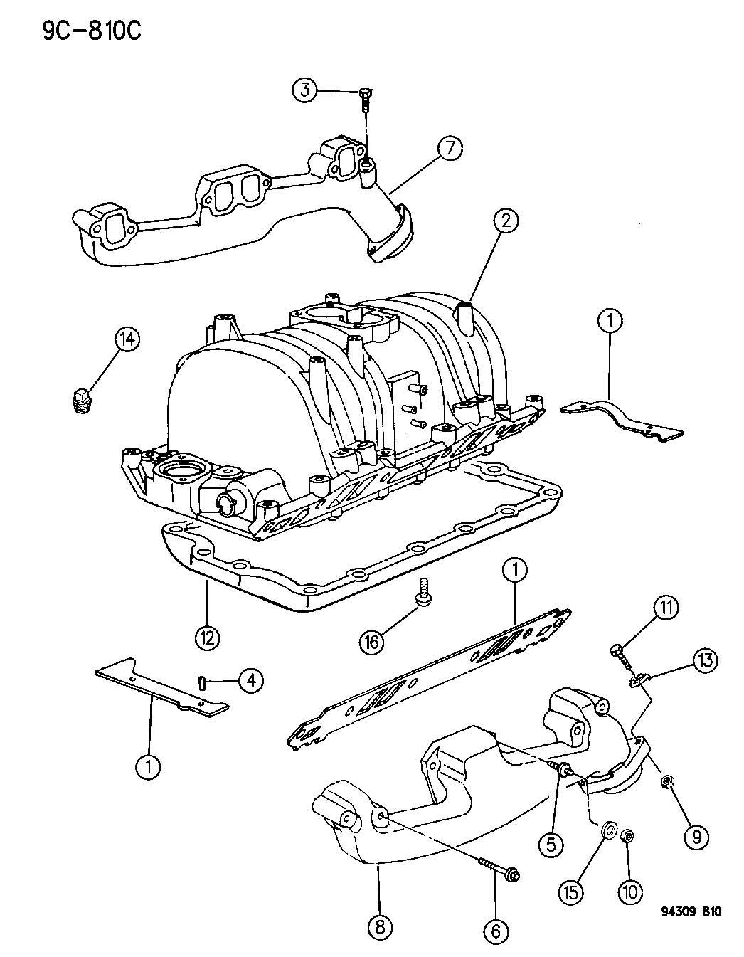 Dodge Ram Manifold Exhaust Left Emlemm Exhausts