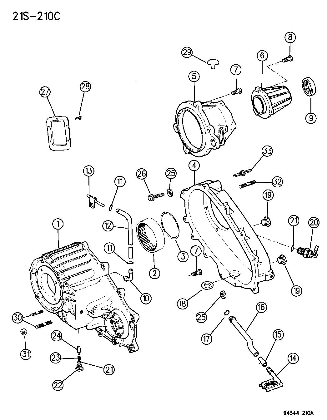 Dodge Ram Case Transfer Rear Heavy Duty