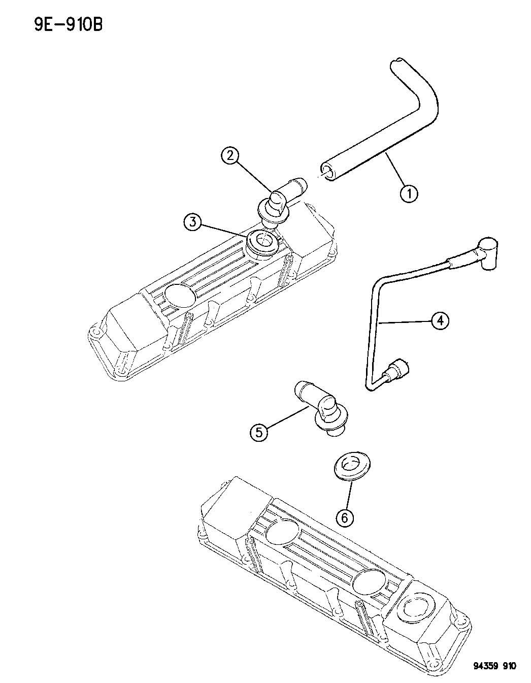 Jeep Wrangler Grommet Crankcase Vent Ccv