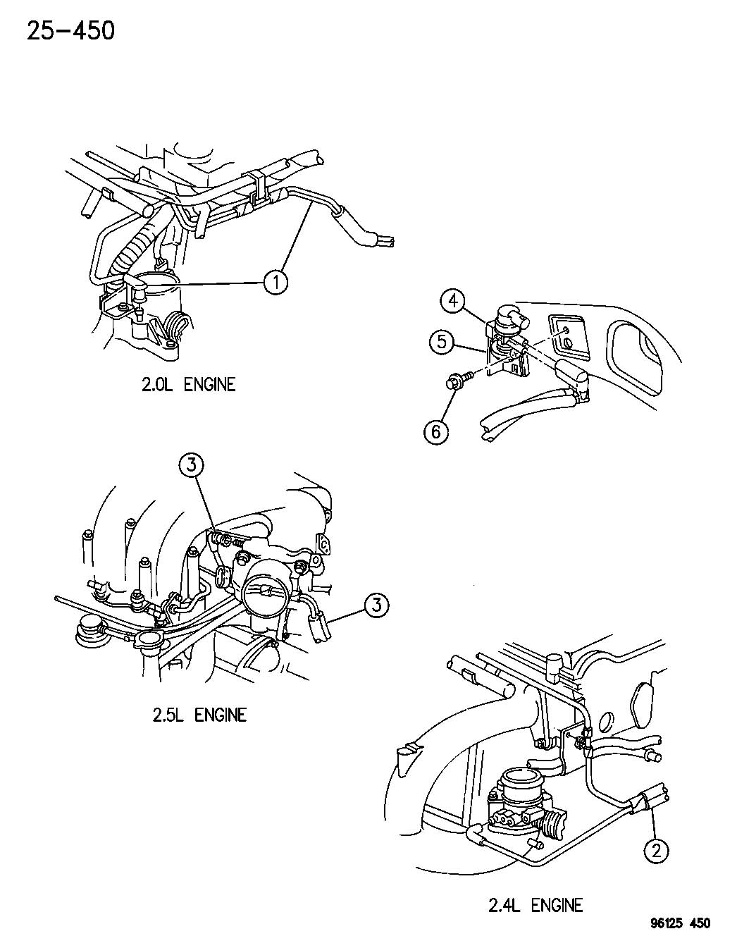 Chrysler Sebring Harness Vapor Purge Edz 2 4l Engine