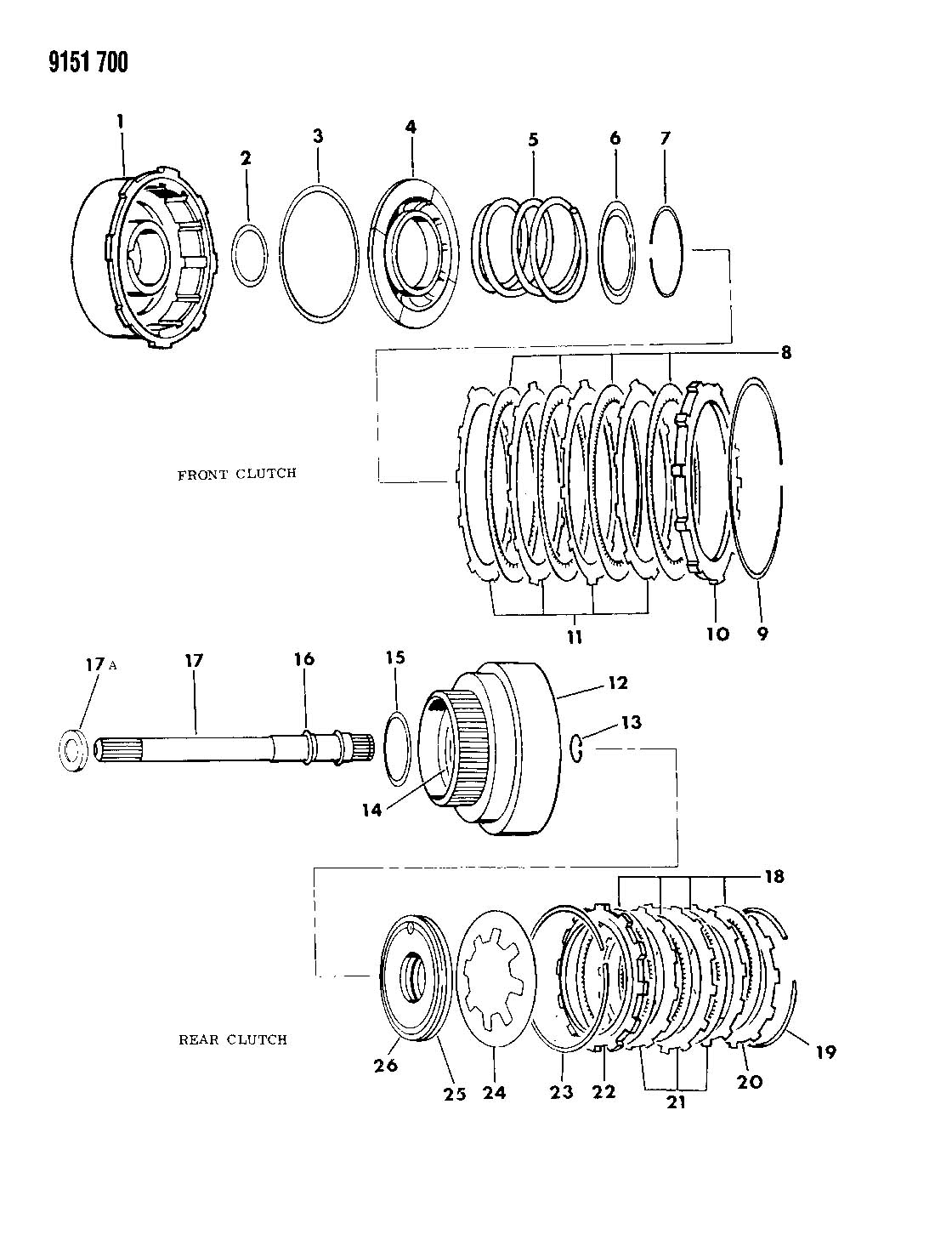 Jeep Grand Cherokee Plate Clutch Separator