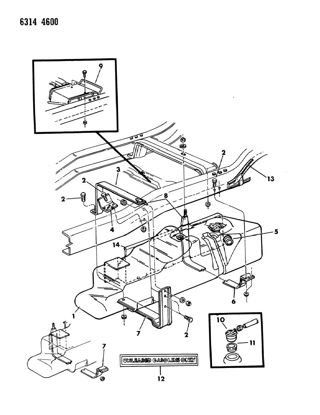 Dodge Dakota Grommet Rollover Valve Midmounted