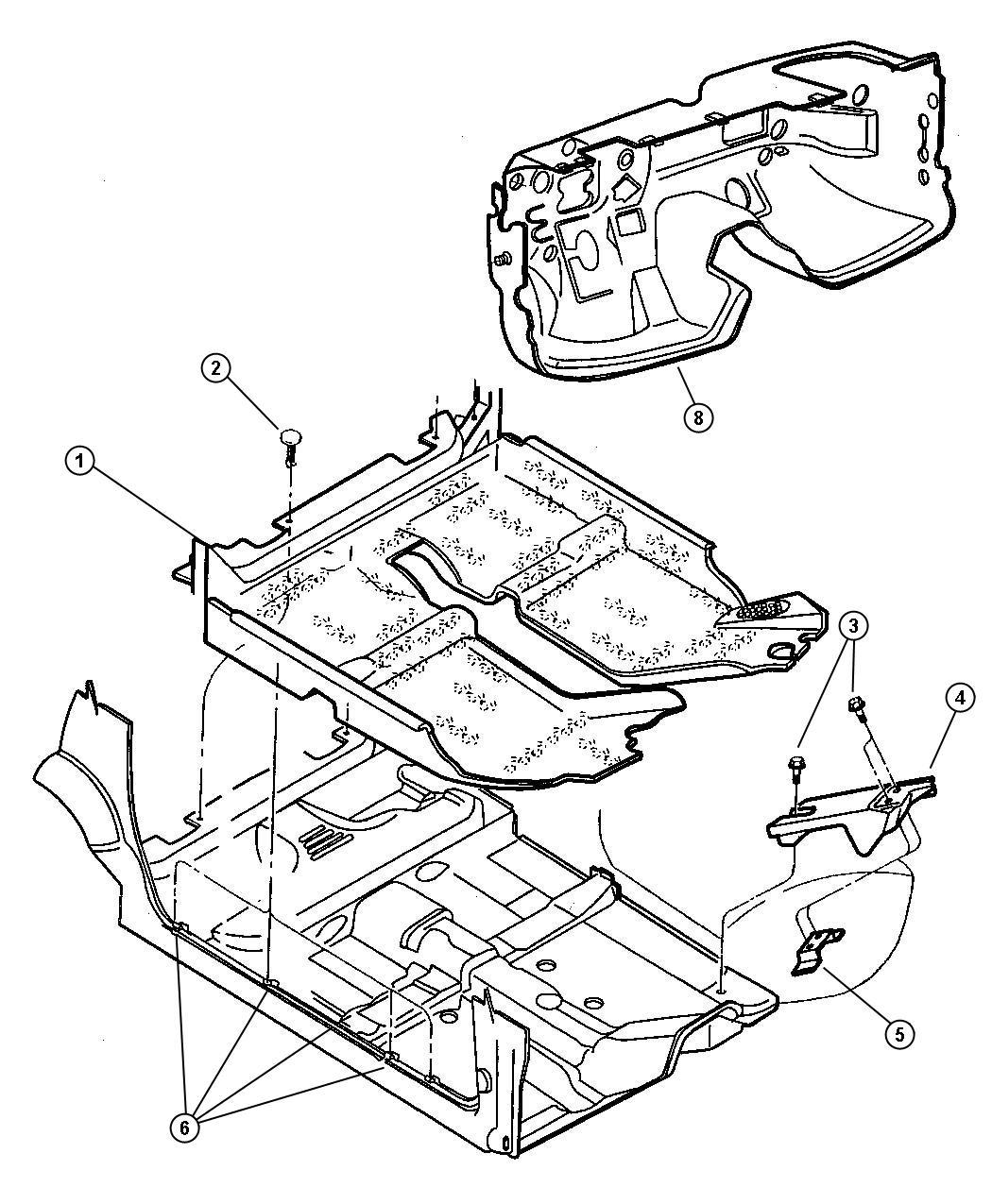 Dodge Grand Caravan Clip Nameplate Nut Dash Panel