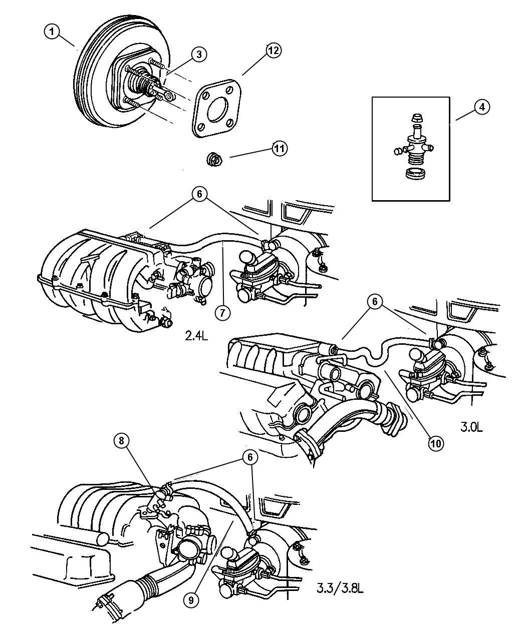 Plymouth Voyager Booster Power Brake