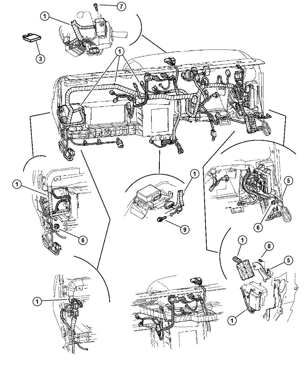 Dodge Durango Wiring Instrument Panel