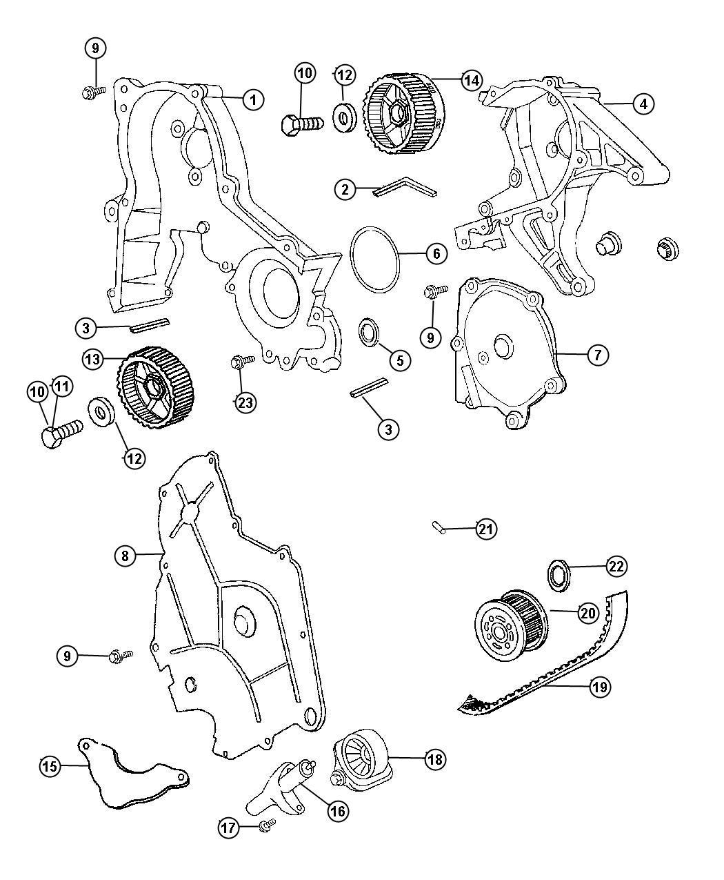 Dodge Intrepid Timing Belt And Cover 3 2l Engine