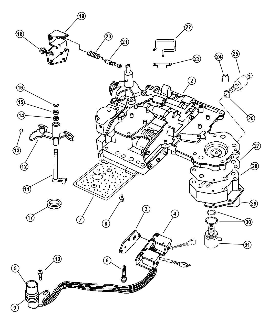 Jeep Liberty Solenoid Transmission Governor Prong Dhz