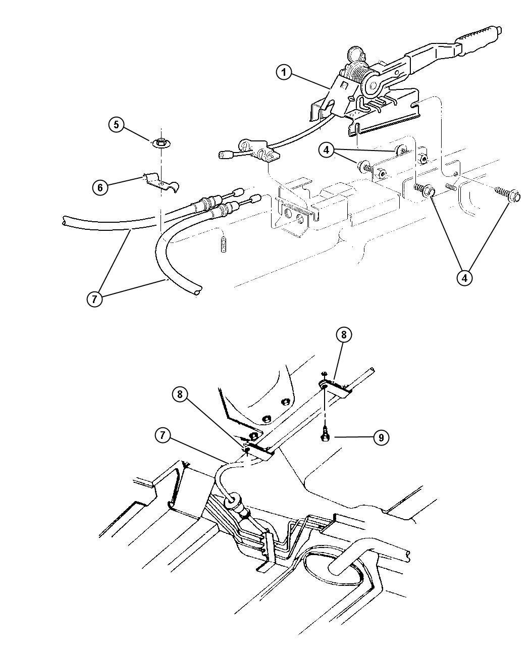 Chrysler Sebring Lever Park Brake W Vinyl Grip