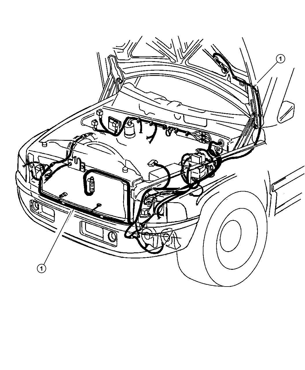 Dodge Ram Wiring Headlamp To Dash W Rwal W Rwal