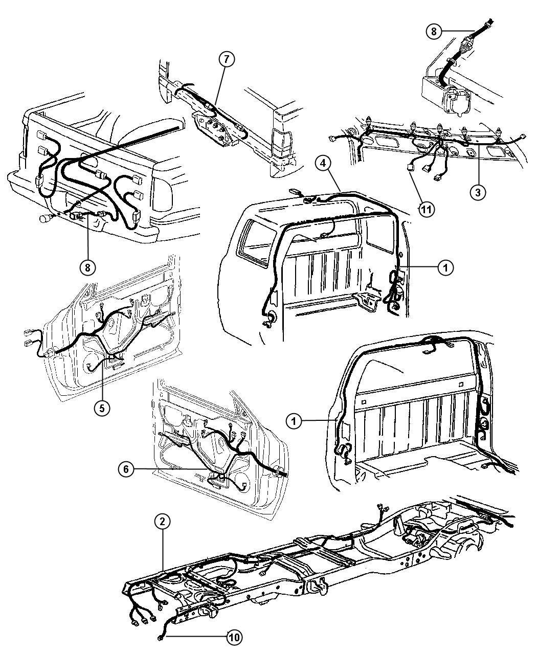 Dodge Ram Wiring Body W O Keyless Entry Amp W