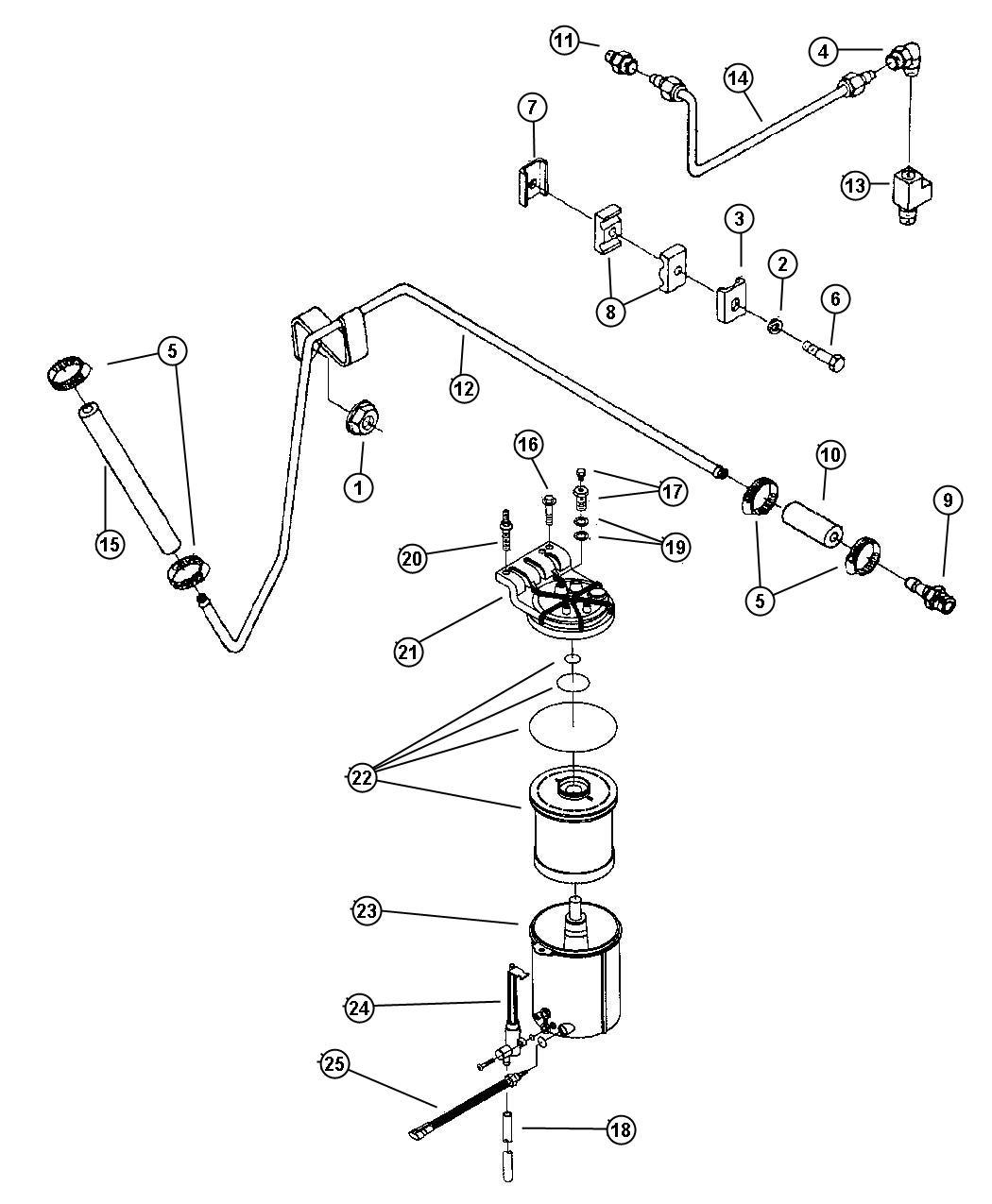 Dodge Ram Air Fuel Control And Fuel Filter