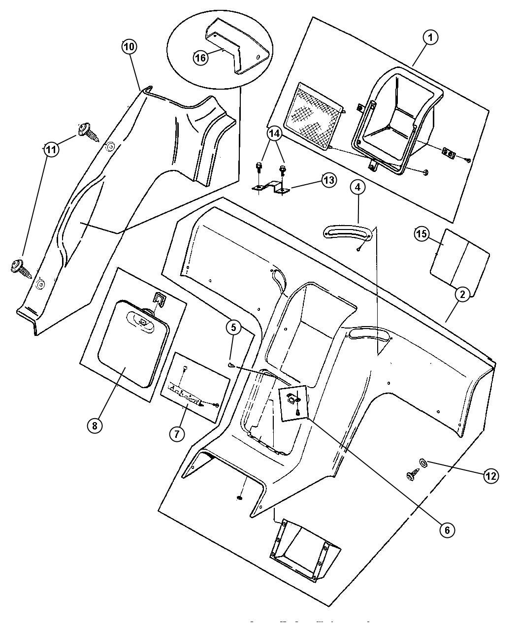 Dodge Bumper Steel Insert Rear Seat Protectors